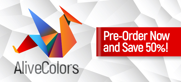 Pre-Order AliveColors with 50% Discount!