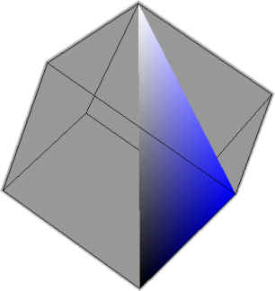 Blue Hue in Cube