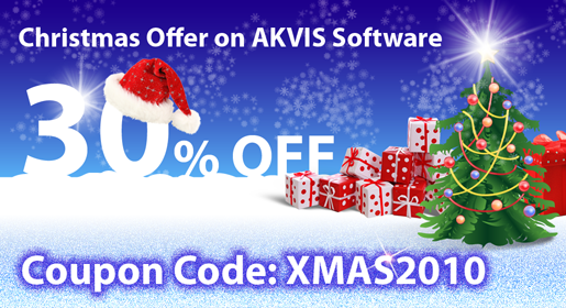 Merry Christmas and New Year Gift Events from AKVIS 2010