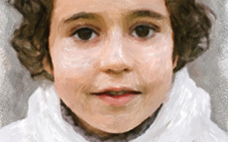 Pastel Portrait of a Boy