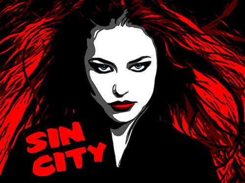 Sin City Style Poster