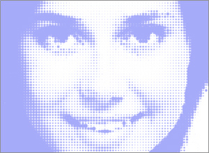 One Color Halftone Image