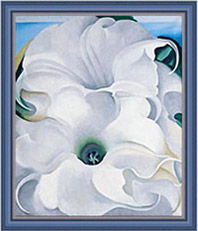 Bella Donna by Georgia O'Keeffe, in frame