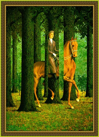 The Blank Signature by Rene Magritte