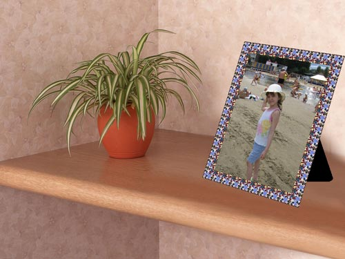 Framed Photo on a Shelf