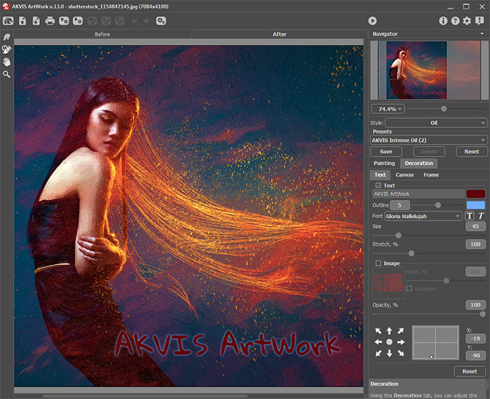 Adding Text Or Watermark To Your Painting In Akvis Artwork