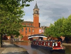 Oil Painting: City Canal