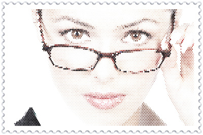Halftone Effect & Post Stamp Frame