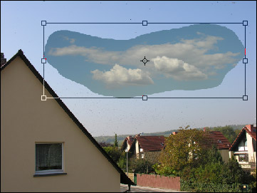 Change the size and position of the clouds