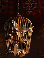 Collage: Bird in a Cage