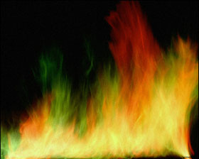 photo of a colorful fire