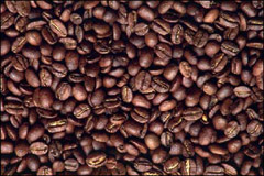 Coffee beans - a backgound image