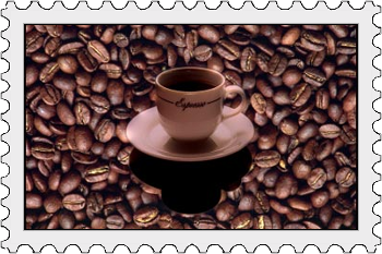 Coffee Postage Stamp
