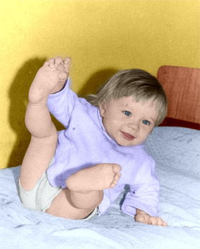 the colorized photo of a child