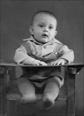Black and White Photo of a Child