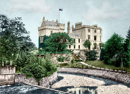 coloured version of the Scottish castle