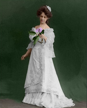 the colorized photo of a girl