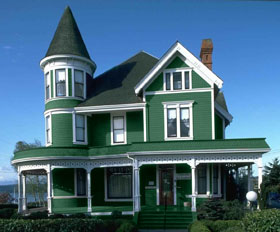 Paint your house change color of walls in akvis coloriage - Roof colors for green houses ...