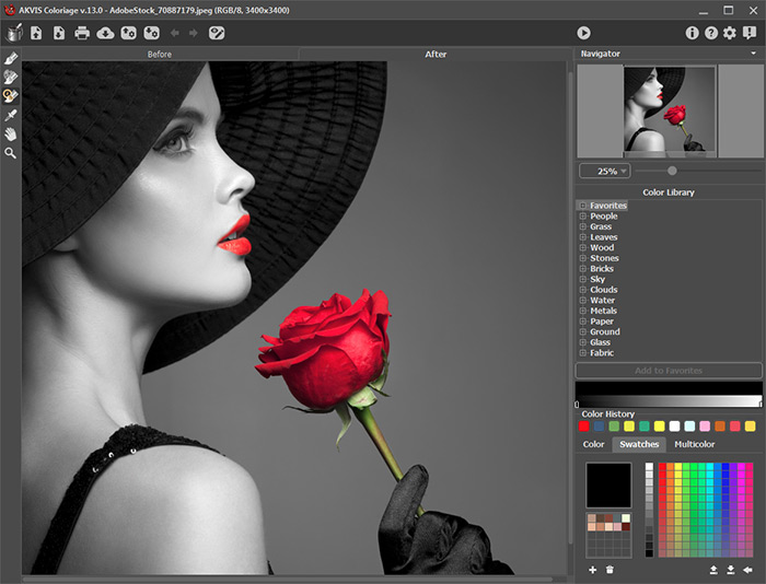 Photo colorization software AKVIS Coloriage