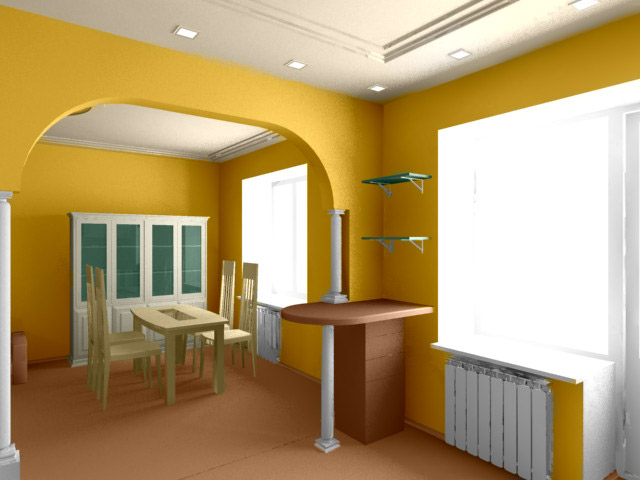 Color Options for Interior Design: Colorize 3D Image in AKVIS ...