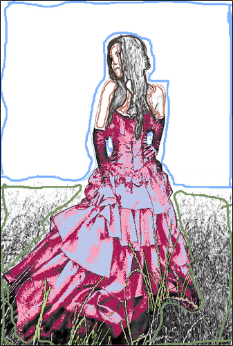 Coloring the Dress in Multicolor Mode
