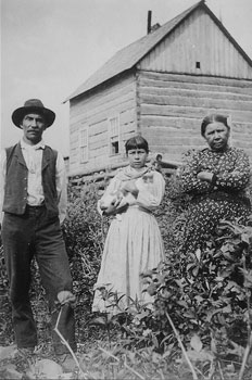 Black and white photo from photo archive about Canadian settlers