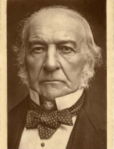William Gladstone, a foto em tom sépia original