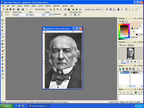 Colourize b w portrait of william gladstone coloriage for Paint pros