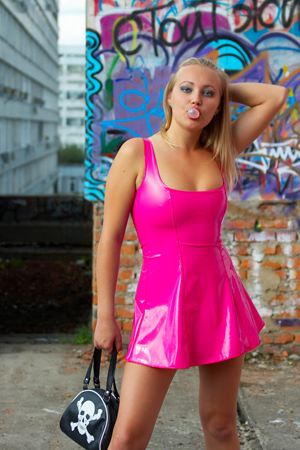 hot girl in pink № 448608