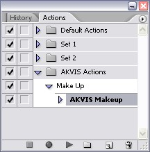 Actions palette: MakeUp