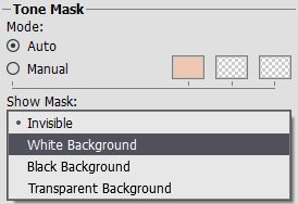 Show Mask Mode Menu
