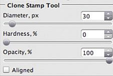Settings of the Stamp tool