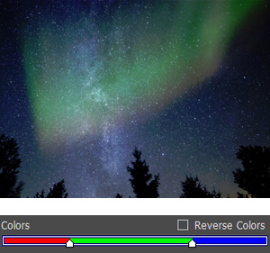 Red, Green and Blue Aurora