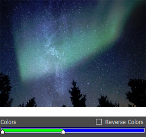 Green and Blue Aurora