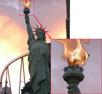 The Statue of Liberty With a torch