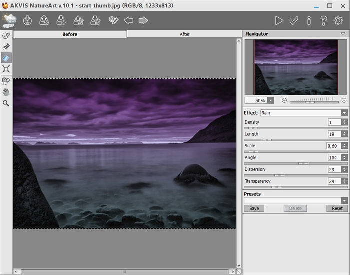 AKVIS NatureArt Plugin's Workspace