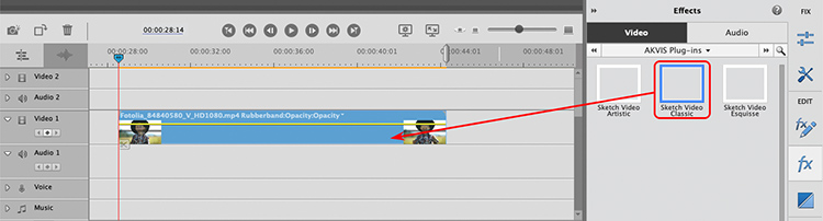 Sketch Video dans Adobe Premiere Elements
