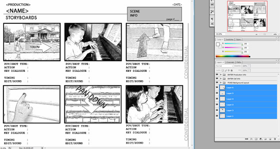 Creating a storyboard to film using akvis sketch filling out the template storyboard saigontimesfo