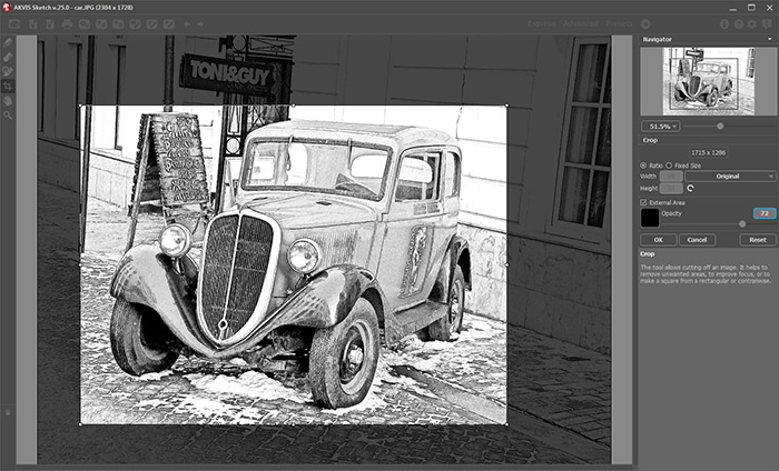 Crop Image in Sketch