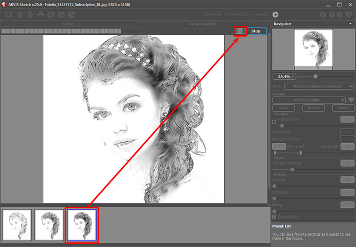 Image Processing in AKVIS Sketch