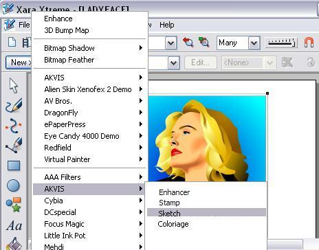 Call AKVIS Plugins in Xara Xtreme