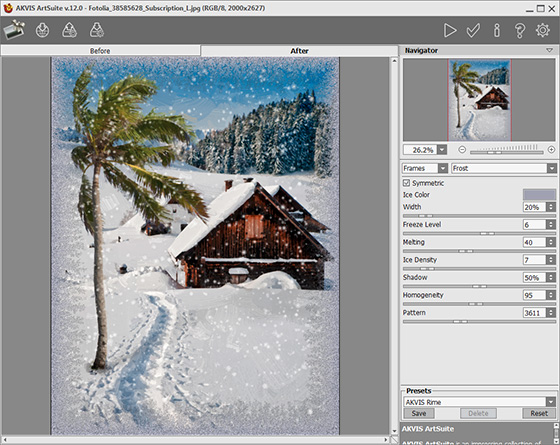AKVIS ArtSuite Plug-in Workspace