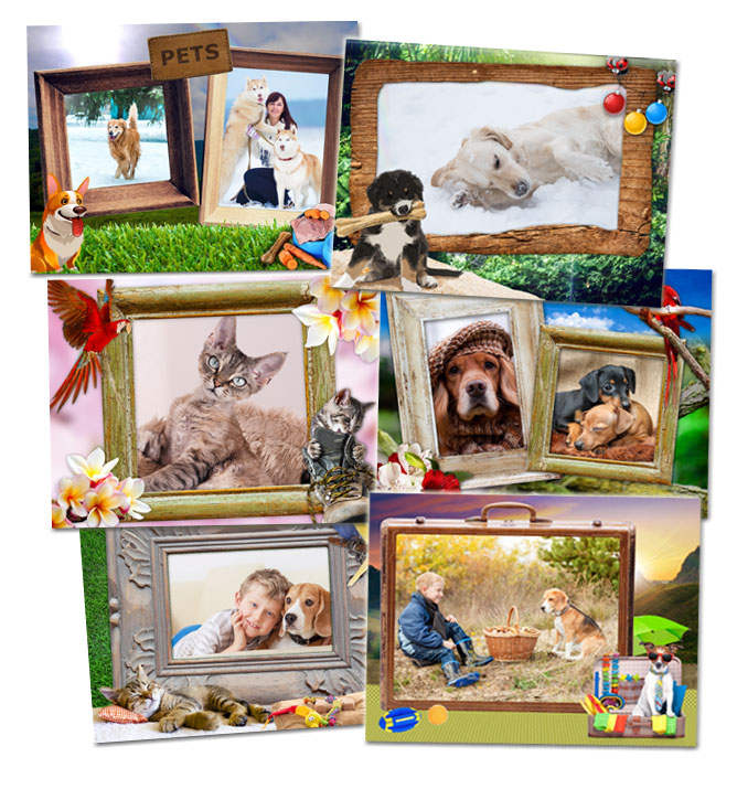New Pets Frame Pack - Cute and Funny Frames for Your Pets Photos
