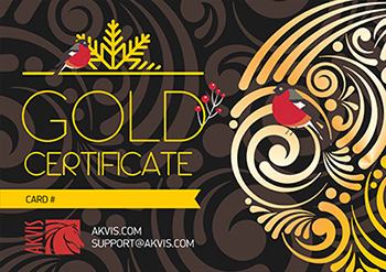 Buy Gold Xmas Certificate
