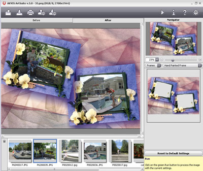 An impressing collection of versatile effects for decoration of photos