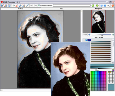 Software for quick colorizing of BW photos and replacing colors on color photos