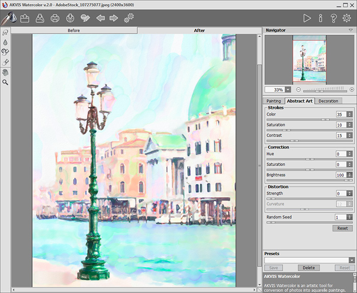 AKVIS Watercolor 2.0: Эффект акварели