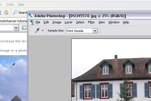 Sample a color outside Photoshop's workspace