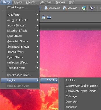 Effetti e plugin in Paint Shop Pro